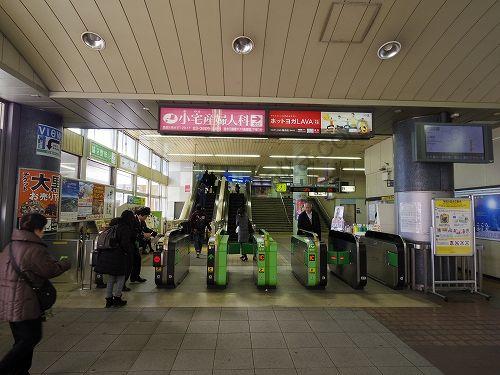 亀有駅の改札