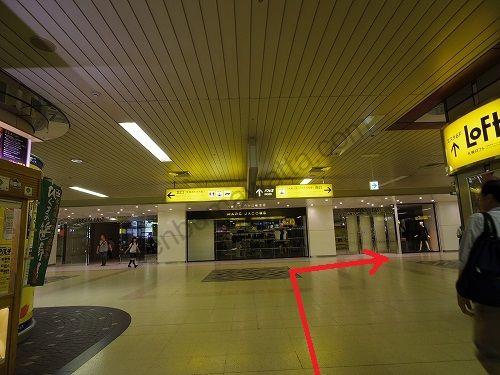 JR札幌駅から南口へ