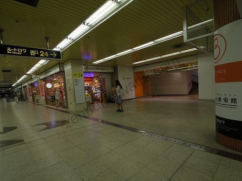 札幌駅前通地下歩行空間を通って24番出口