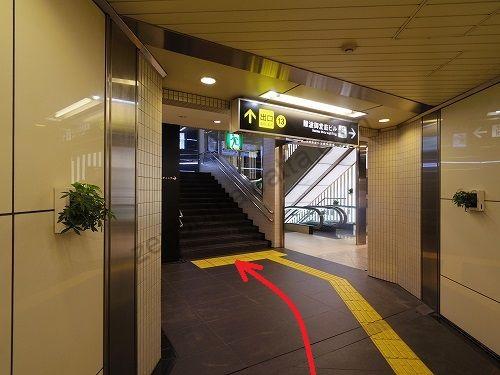 13番出口から地上に出ます