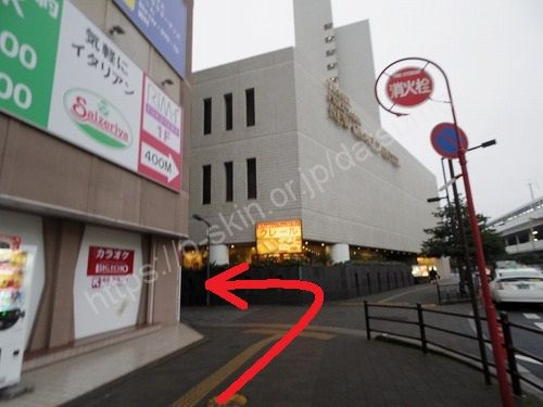 福山ニューキャッスルホテルの手前を左折