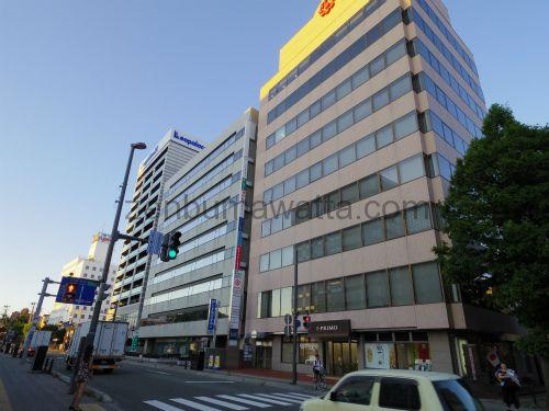秋田駅から直進するとある信号