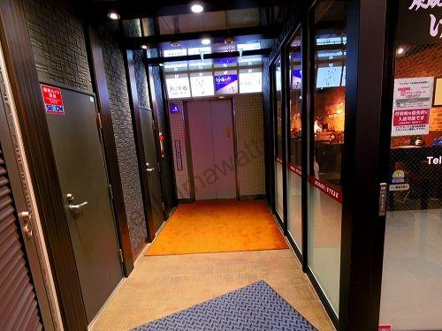 ラットタット仙台店があるマジェスティビルのエレベーター
