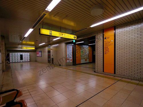 地下鉄南北線 広瀬通駅の改札を出たら出口 東1方面へ