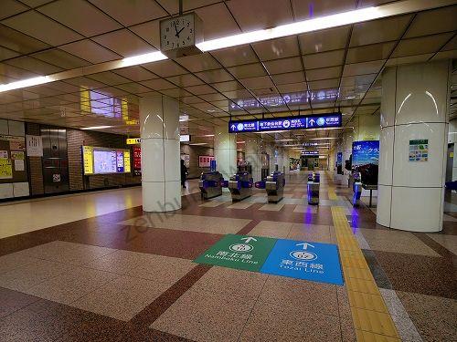 地下鉄南北線・東西線 仙台駅の南改札