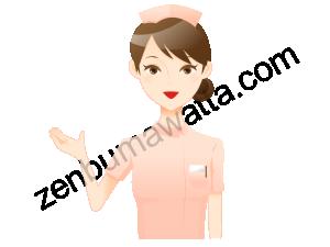 看護師風の女性
