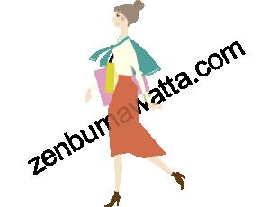 仕事帰り風の女性