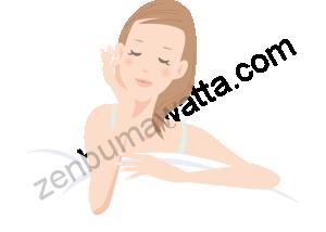 目を瞑っている女性