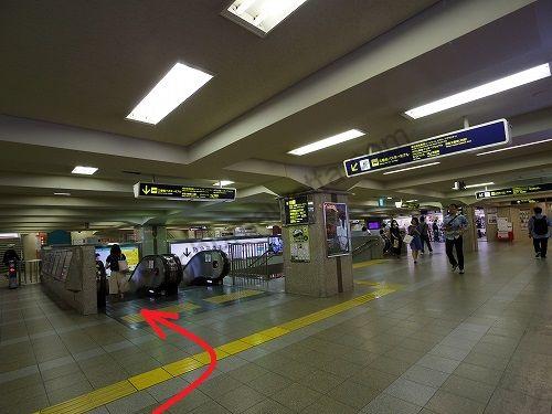阪急三番街北館の方へ向かいます