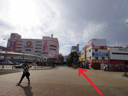 加古川駅のロータリー