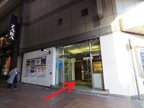 京町筋安田ビルの入口