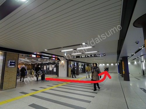 阪神電鉄神戸三宮駅の東口改札