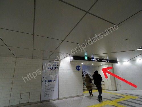 地下道の階段