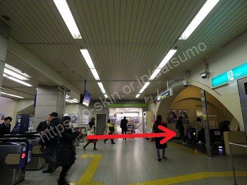阪急電鉄の神戸三宮駅の改札