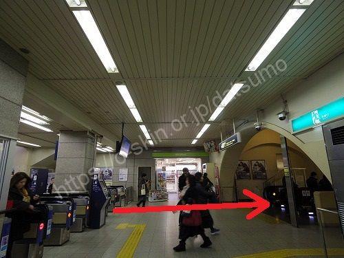 阪急神戸三宮駅の改札