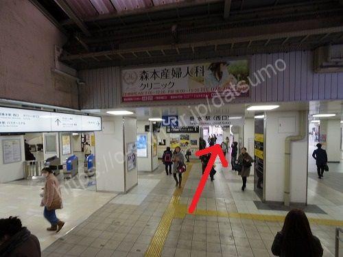 JR垂水駅の西口