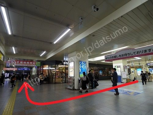 JR福山駅の改札口