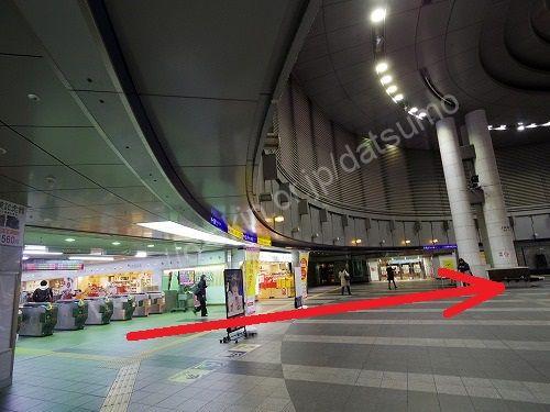 JR小倉駅の3階改札
