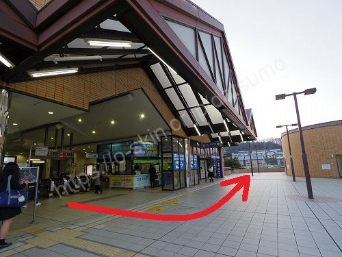 JR中庄駅の改札