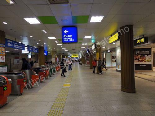 地下鉄天神駅西口改札